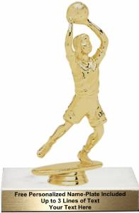 "6 1/4"" Junior Basketball Female Trophy Kit"