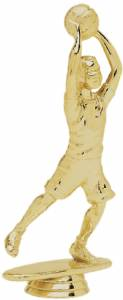 "5 1/2"" Junior Basketball Male Trophy Figure Gold"