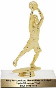 "6 1/4"" Junior Basketball Male Trophy Kit"