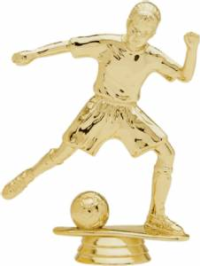 "5"" Junior Soccer Female Trophy Figure Gold"