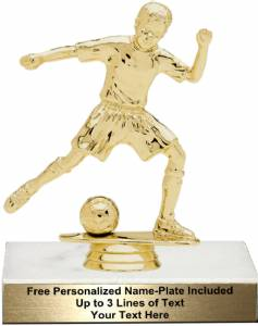 "5 3/4"" Junior Soccer Male Trophy Kit"