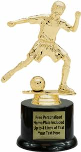 "7"" Junior Soccer Male Trophy Kit with Pedestal Base"