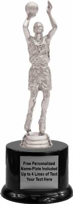 "8 3/4"" Basketball Male Trophy Kit with Pedestal Base"