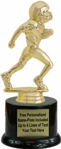 "7"" Junior Football Male Trophy Kit with Pedestal Base"