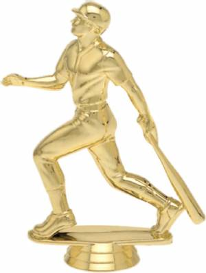 "5"" Baseball Batter Trophy Figure Gold"