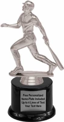 "7"" Baseball Batter Trophy Kit with Pedestal Base"