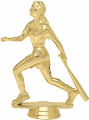 "5"" Softball Batter Trophy Figure Gold"
