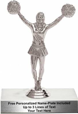 "6 1/4"" Cheerleader Female Trophy Kit"