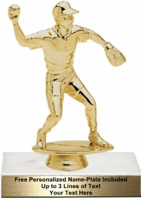 "6 1/2"" Softball Fielder Male Trophy Kit"