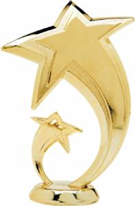 "5 1/2"" Shooting Star Trophy Figure Gold"