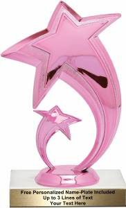 "Pink 6 1/4"" Shooting Star Trophy Kit"