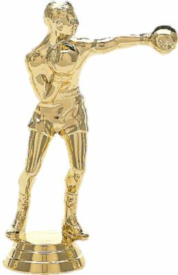 "5"" Boxer Male Trophy Figure Gold"