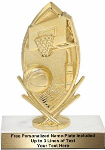 "6 3/4"" Basketball Sport Trophy Kit"