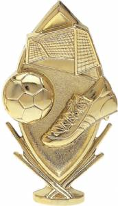 "5 3/4"" Soccer Sports Trophy Figure Gold"