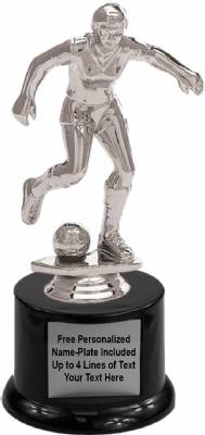 "7"" Soccer Female Trophy Kit with Pedestal Base"