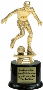 "7"" Soccer Male Trophy Kit with Pedestal Base"