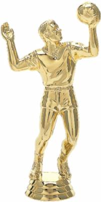 "5 1/4"" Volleyball Male Trophy Figure Gold"
