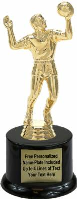 "7 1/4"" Volleyball Male Trophy Kit with Pedestal Base"