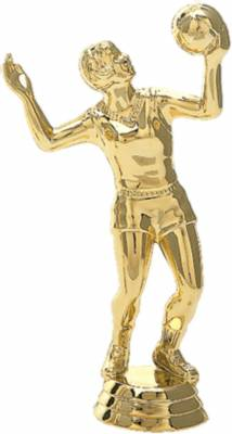 "5 1/8"" Volleyball Female Trophy Figure Gold"