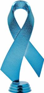 "Blue 5 3/4"" Awareness Ribbon Trophy Figure"