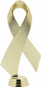 "Gold 5 3/4"" Awareness Ribbon Trophy Figure"