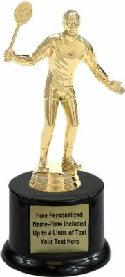"7"" Male Badminton Trophy Kit with Pedestal Base"