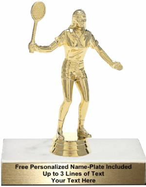 "5 3/4"" Female Badminton Trophy Kit"