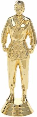 "5 1/4"" Judo Female Trophy Figure Gold"