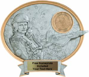 "Air Force Male - Legend Series Resin Award 8 1/2"" x 8"""