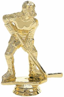 "5"" Hockey Female Trophy Figure Gold"