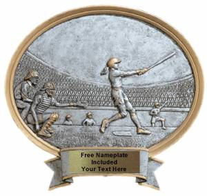 "Baseball Softball Female - Legend Series Resin Award 8 1/2"" x 8"""