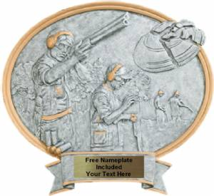 "Trapshooter Male - Legend Series Resin Award 8 1/2"" x 8"""