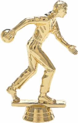 "5"" Bowler Male Trophy Figure Gold"