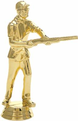 "5"" Skeetshooter Male Trophy Figure Gold"