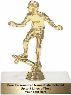 "5 3/4"" Skate Board Rider Trophy Kit"