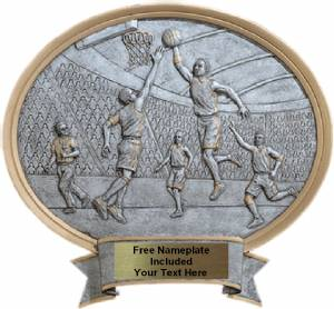 "Basketball Male - Legend Series Resin Award 6 1/2"" x 6"""