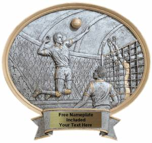 "Volleyball Male - Legend Series Resin Award 6 1/2"" x 6"""