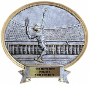 "Tennis Male - Legend Series Resin Award 6 1/2"" x 6"""