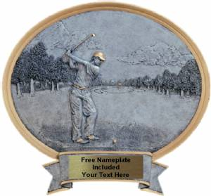 "Golf Male - Legend Series Resin Award 6 1/2"" x 6"""