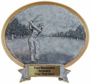 "Golf Female - Legend Series Resin Award 6 1/2"" x 6"""