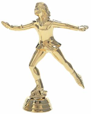 "5"" Ice Skater Female Trophy Figure Gold"
