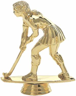 "5"" Field Hockey Female Trophy Figure Gold"
