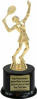 "7 1/2"" Tennis Female Trophy Kit with Pedestal Base"