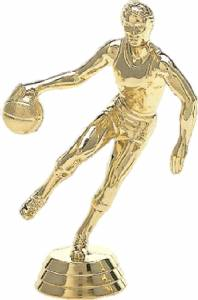 "4 1/2"" Basketball Action Male Trophy Figure Gold"