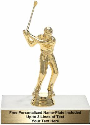 "5 1/2"" Golfer Male With Club Trophy Kit"
