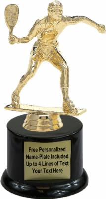 "6 1/2"" Racquetball Male Trophy Kit with Pedestal Base"