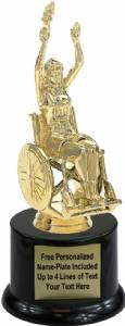 "6"" Wheelchair Female Trophy Kit with Pedestal Base"