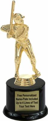 "7 1/2"" Junior League Male Trophy Kit with Pedestal Base"