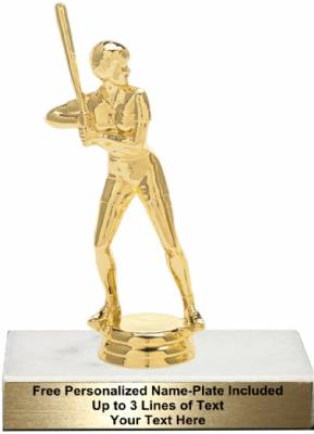 "6 3/4"" Softball Female Trophy Kit"