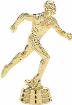 "5 1/4"" Track Male Trophy Figure Gold"